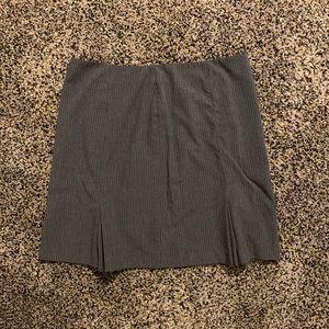 Grey Pinstripe Skirt